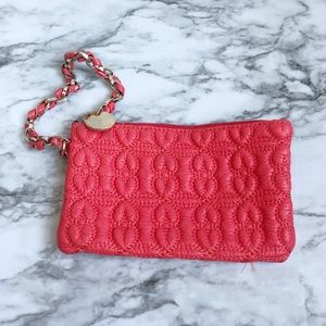 Deux Lux Coral Quilted Wristlet